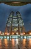 Costruzione metropolitana di governo di Tokyo alla notte Fotografia Stock