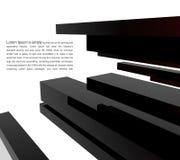 costruzione moderna 3d su un cielo della priorità bassa Fotografia Stock