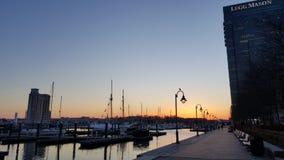 Costruzione moderna al porto interno di Baltimora Fotografia Stock
