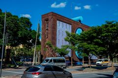 Costruzione moderna a Belo Horizonte fotografia stock