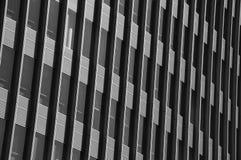 Costruzione moderna in in bianco e nero Fotografia Stock