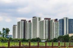 Costruzione moderna del condominio Fotografia Stock