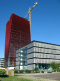 Costruzione moderna del grattacielo fotografie stock libere da diritti