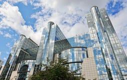 Costruzione moderna del Parlamento Europeo a Bruxelles Fotografia Stock