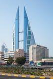 Costruzione moderna del World Trade Center del Bahrain, Manama Immagine Stock Libera da Diritti