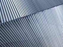 Costruzione moderna della facciata del dettaglio di architettura del modello della struttura d'acciaio Immagine Stock