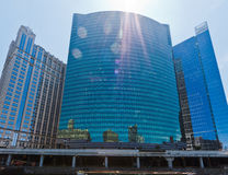 Costruzione moderna della finestra di vetro del Chicago Fotografia Stock