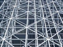 Costruzione moderna della struttura d'acciaio del metallo Fotografia Stock Libera da Diritti