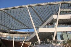Costruzione moderna della struttura d'acciaio dell'ASIA CINA SHENZHEN nel quadrato del mondo del mare Fotografie Stock