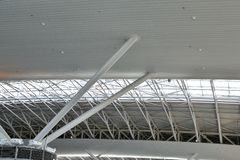costruzione moderna di vetro e dell'acciaio Fotografie Stock