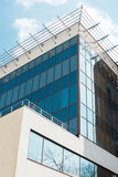 Costruzione moderna e nuova di affari Edificio alto, torre di affari alla città, Mosca, capitale della Russia Fotografia Stock Libera da Diritti