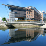 Costruzione moderna nell'area di Aker Brygge, Oslo, capitale della Norvegia Immagini Stock Libere da Diritti