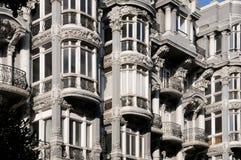 Costruzione modernista a Oviedo, Asturie Fotografia Stock Libera da Diritti