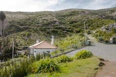 Costruzione in montagne del Madera Fotografia Stock