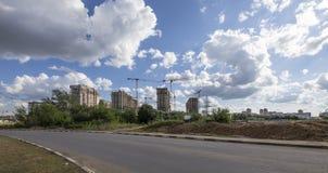 Costruzione multipiana in costruzione, Mosca, Russia Immagine Stock