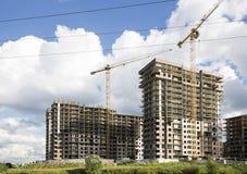 Costruzione multipiana in costruzione, Mosca, Russia Fotografie Stock