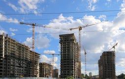 Costruzione multipiana in costruzione, Mosca, Russia Immagini Stock