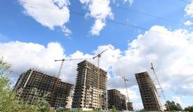 Costruzione multipiana in costruzione, Mosca, Russia Fotografia Stock