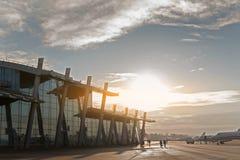 Costruzione multy-srored vetro dell'aeroporto Immagini Stock