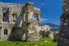 Costruzione nel castello di Spis Immagini Stock