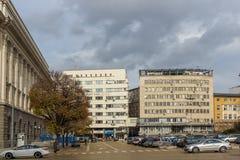 Costruzione nel centro della città di Sofia, Bulgari Immagine Stock