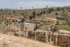 Costruzione nel Madagascar Fotografie Stock Libere da Diritti