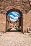 costruzione nel quadrato a Roma Fotografia Stock