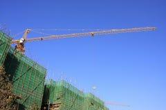 Costruzione nell'ambito della costruzione Fotografia Stock