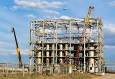 Costruzione nell'impianto industriale Fotografia Stock Libera da Diritti