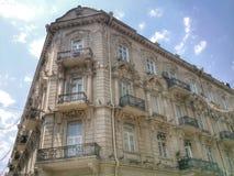 Costruzione nella città di Bacu immagini stock libere da diritti