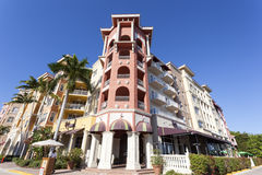 Costruzione nella città di Napoli, Florida Fotografia Stock Libera da Diritti