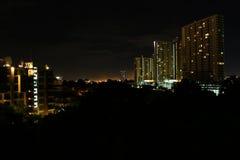 Costruzione nella notte immagine stock