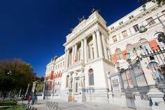 Costruzione neoclassica alla stazione della metropolitana di Atocha, Madrid Fotografia Stock Libera da Diritti