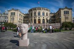 Costruzione norvegese del Parlamento Fotografia Stock