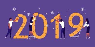 Costruzione numeri 2019 Immagini Stock Libere da Diritti