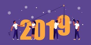Costruzione numeri 2019 Immagini Stock