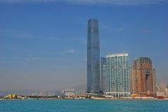 Costruzione più alta in Hong Kong International Commerce Centre Immagini Stock