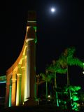 Costruzione piacevole alla notte Fotografia Stock Libera da Diritti