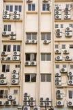 Costruzione in pieno delle unità del aircon Fotografia Stock Libera da Diritti
