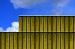 Costruzione placcata del metallo Fotografia Stock Libera da Diritti
