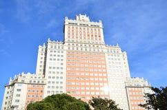Costruzione in Plaza de Espana immagini stock