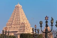 Costruzione principale del complesso del tempio di Chattarpura Fotografie Stock