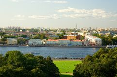 Costruzione principale dell'università di Stato di St Petersburg Fotografia Stock Libera da Diritti