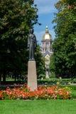 Costruzione principale di Notre Dame Campus Immagini Stock