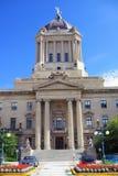 Costruzione provinciale del Parlamento in Winnipeg fotografia stock