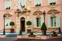 Costruzione pubblica della forza al quadrato del palazzo a Monte Carlo, Monaco Fotografie Stock