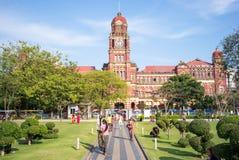 Costruzione in Rangoon, Myanmar dell'alta corte Fotografia Stock