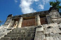Costruzione reale Mayan dello spettatore Immagine Stock