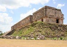 Costruzione religiosa in uxmal, Messico Immagini Stock