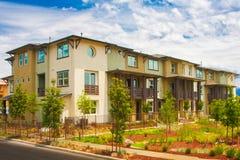 Costruzione residenziale del condominio immagine stock libera da diritti